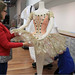 Cristina and Francesca dressing mannequin with Tutu designed by Lila de Nobili and worn by Margot Fonteyn as Princess Aurora in Act I of The Sleeping Beauty, 1968  ©Sarah Bailey Hogarty 2012