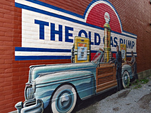 The old gas pump heritage mural pembroke on flickr for Cleveland gas station mural