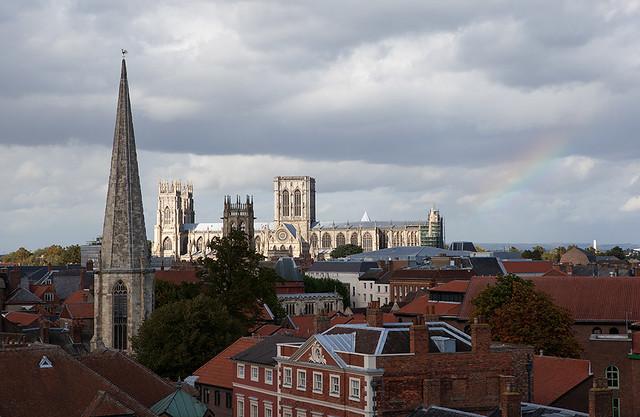 York Cityscape, with Rainbow