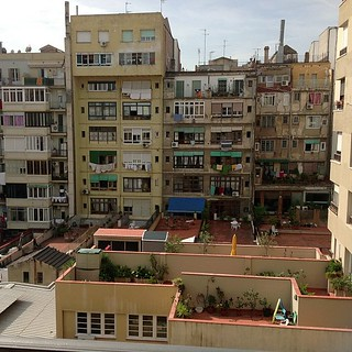 #kvpspain : View from our apartment. I think we heard school kids going wild at recess.