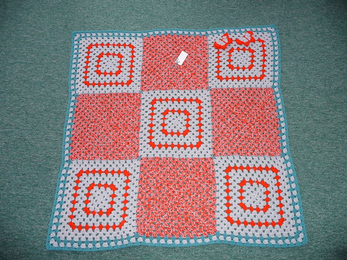 A beautiful Granny Square Blanket made in a wonderful combination of colours!