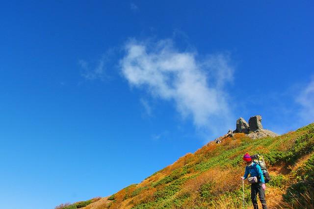 権現岳の岩塊