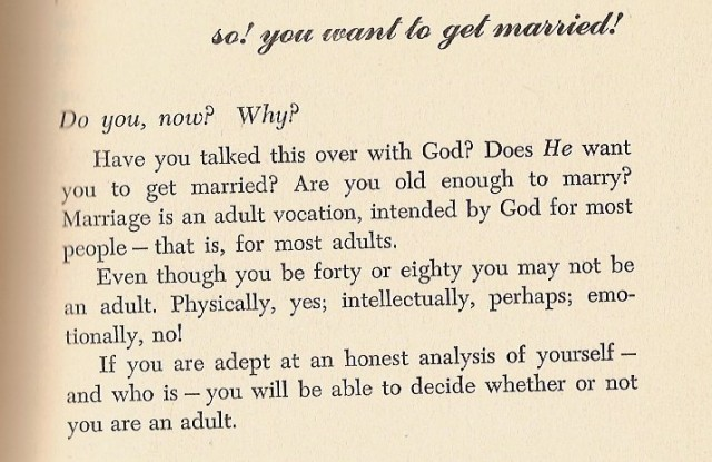 So You Want to Get Married 1