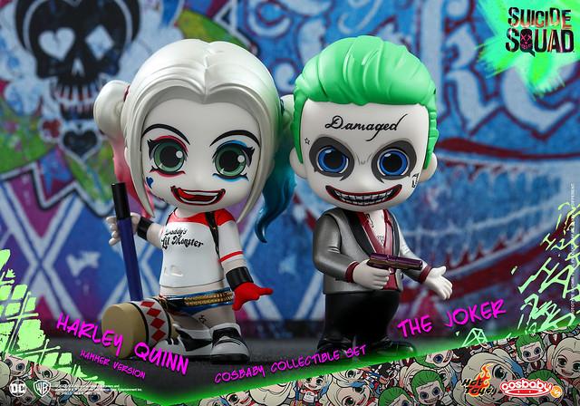 哪裡來這麼可愛的反派啊?!Hot Toys – COSB303 – 自殺突擊隊【小丑 & 小丑女哈莉.奎茵】The Joker & Harley Quinn Hammer Ver. Cosbaby
