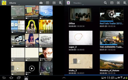 Galaxy Note 10.1 Galeri foto dan galeri video