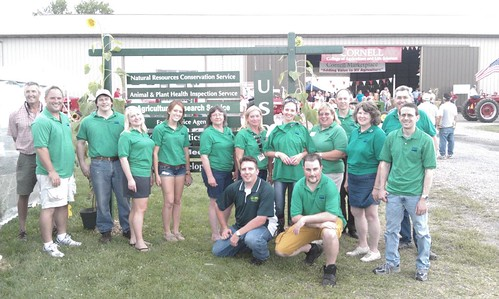 New York Rural Development, Farm Service Agency and National Resource Conservation Service staff members gather to celebrate USDA's 150th anniversary at the Empire Farm Days