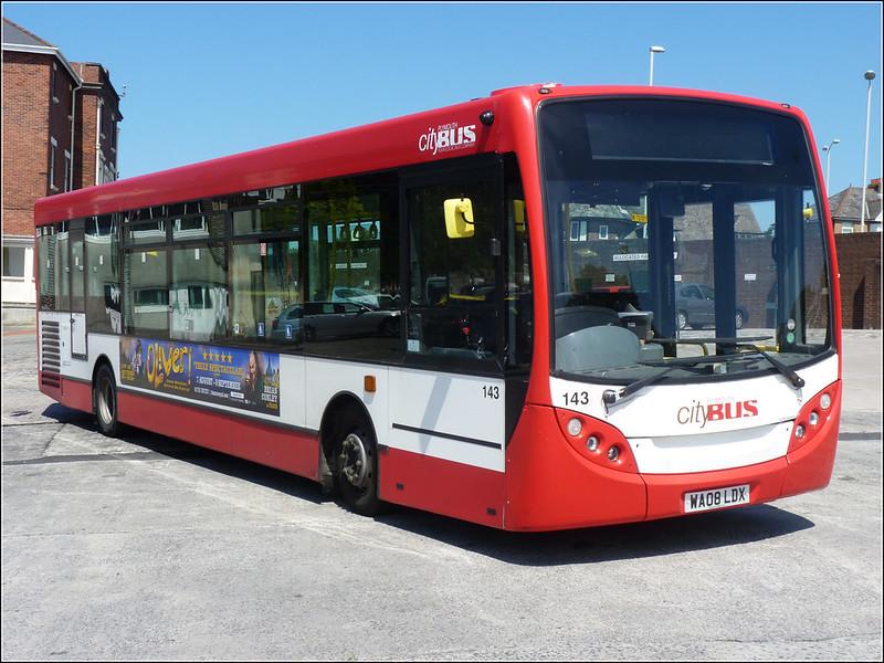 Plymouth Citybus 143 WA08LDX