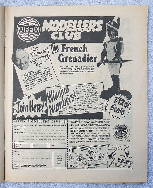 Airfix Modellers Club full page advert (Buster comic, 12th April 1980)