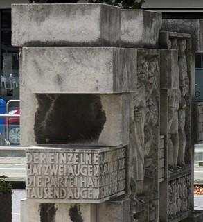 Sozialistische Skulptur in Chemnitz - Detail