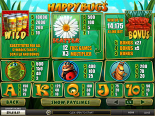 Happy Bugs Slots Payout