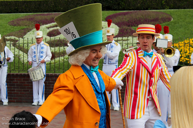 The Disneyland Band and Characters have fun at the Main Entrance
