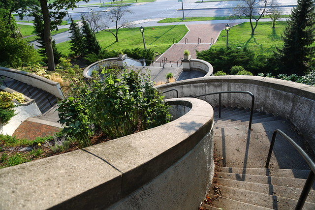 Stairs to Lake Park from the Lakefront