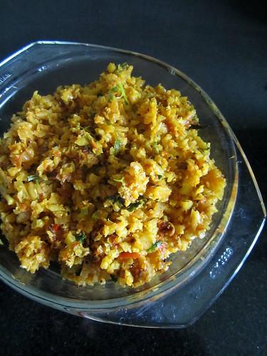 Cauliflower Masala Dosa-masala
