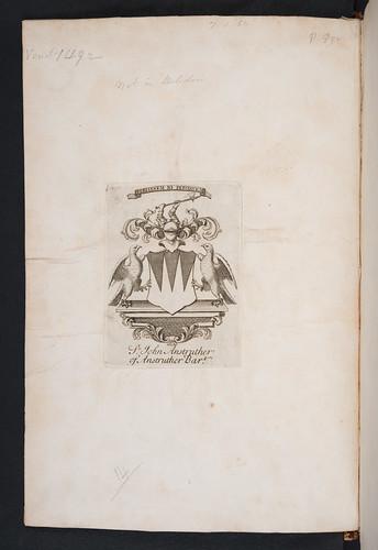 Armorial bookplate in Seneca, Lucius Annaeus: Tragoediae