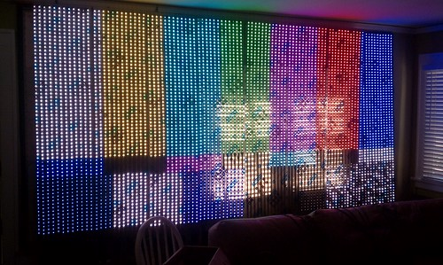 LED wall test