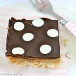 Dark & white chocolate  polka dots