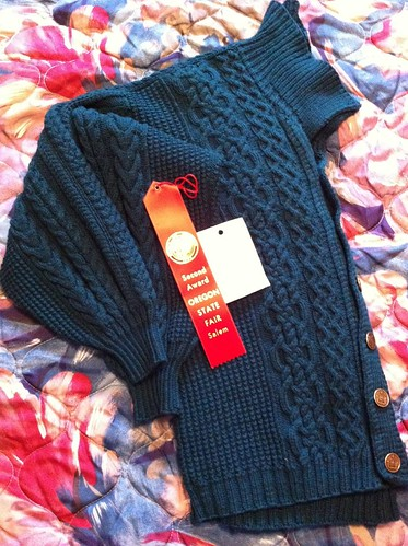 Kelly's Ingvold Aran cardigan by BlueDragon2