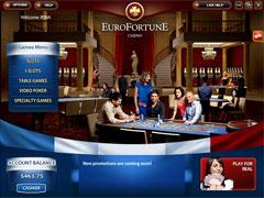 EuroFortune Casino Lobby
