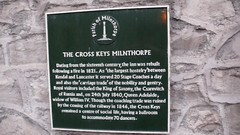 Photo of Adelaide of Saxe-Meiningen, Frederick Augustus II, and The Cross Keys, Milnthorpe black plaque