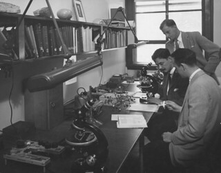 A Pomona College geology class in 1946