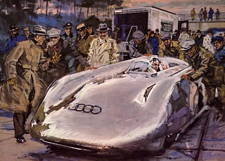 1938 Auto Union Rekordwagen painting