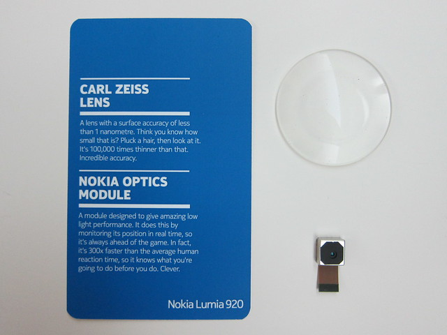 #1: Carl Zeiss Lens, #2: Nokia Optics Module