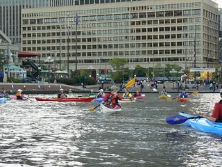 Kayaks in the Inner Harbor