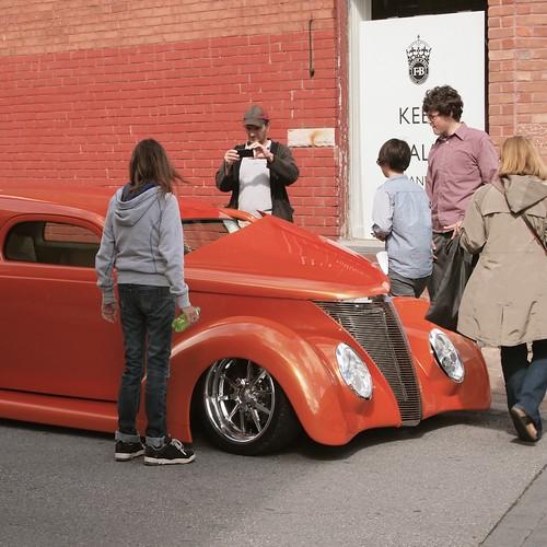 vintage car show got attention
