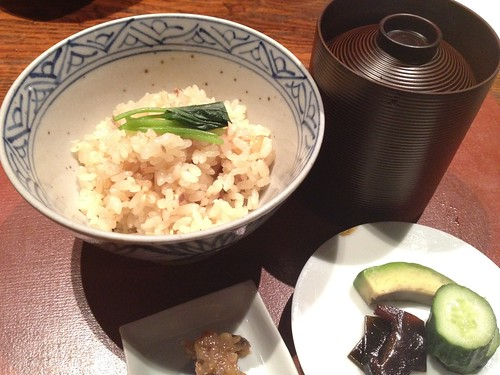 食事:秋刀魚御飯 湯葉赤だし@暗闇坂宮下 麻布十番