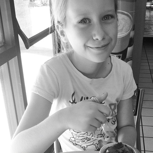 Ice cream with my girl.