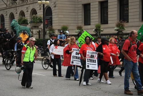 Chicago's teachers demonstration