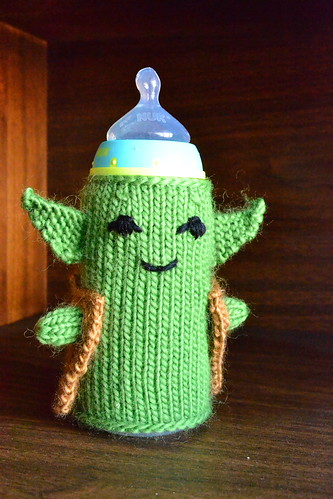 Yoda with a bottle