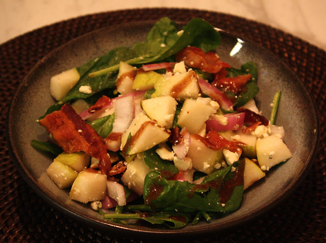 Pear, Bacon & Gorgonzola Salad