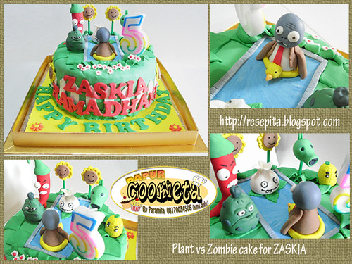 plant vs zombie cake for zaskia
