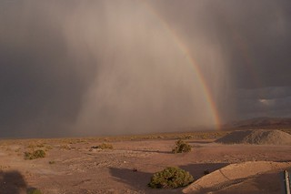 Beautiful storm and rainbow in Nevada