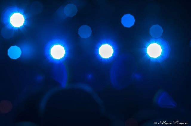 show de rock si lumini