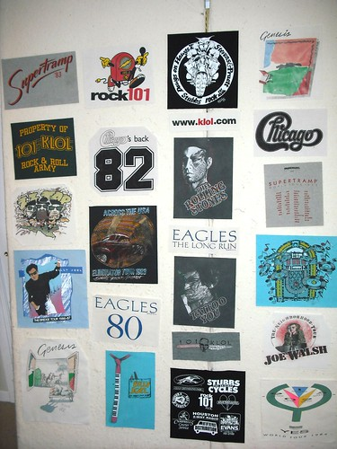Layout for M's t-shirt quilt