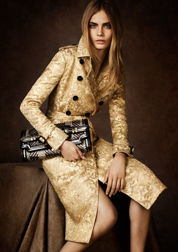 08 gold lace trench coat