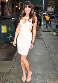 Lea Michele Bandage Dress Herve Leger Celebrity Style Women's Fashion