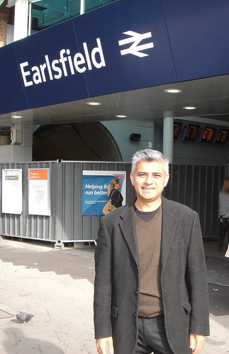 Sadiq outside Earlsfield Station, which is getting an £8m refurbishment