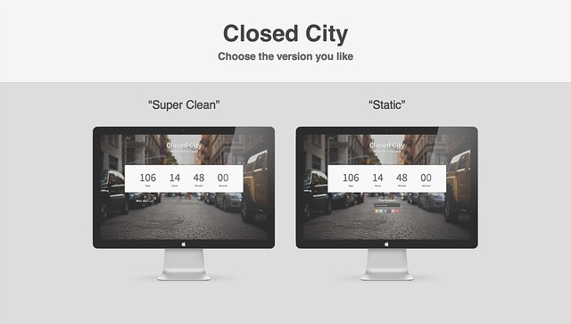 Closed City - Coming Soon Page
