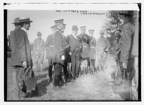 Gen. J.F. O'Ryan and staff, Gen. C.H. Hitchcock  (LOC)