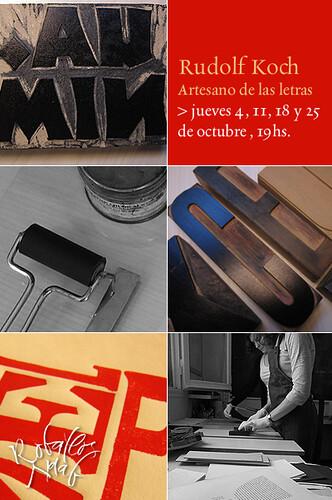 Rudolf Koch, artesano de las letras