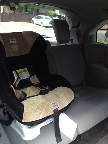 Car seat in the rear no problem