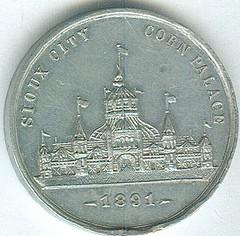 1891 Corn Palace obv