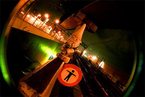 Gnome at Rail