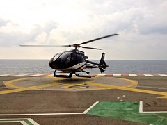 Departing Monte Carlo to Nice, France by Helicopter - Photo taken with my iPhone
