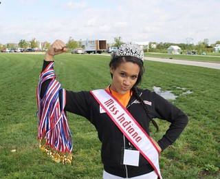 NAMiss Indiana Queen at the Special Olympics