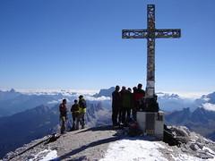 Auf dem Gipfel der Tofana di Rozes