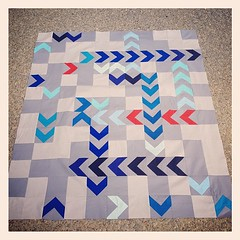 Titans inspired quilt top for silent auction complete! #titans #tennessee